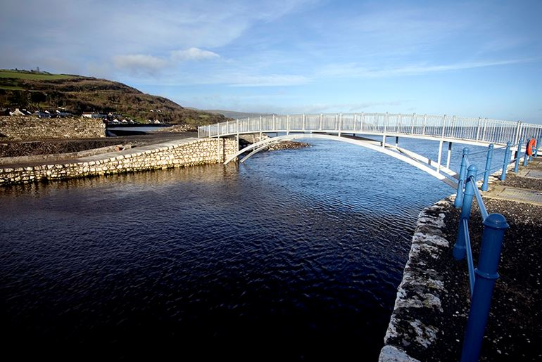 Glenarm Harbour Footbridge