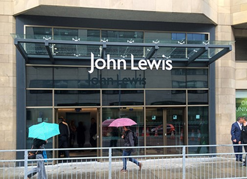 John Lewis Leith Street entrance launch