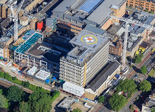 Steel work commences at King's College Hospital