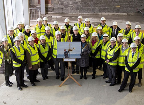 Topping out at Irvine Leisure Centre