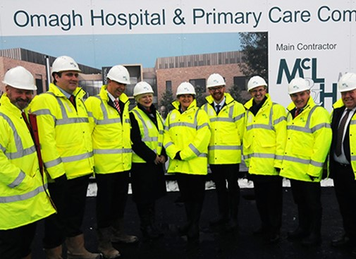 First Minister & Health Minister visit Omagh Hospital