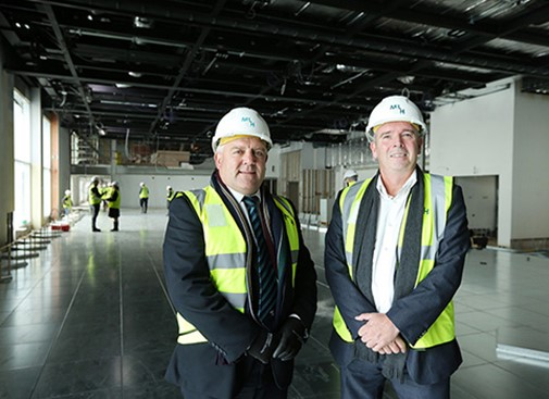 Waterfront Hall extension marks major milestone