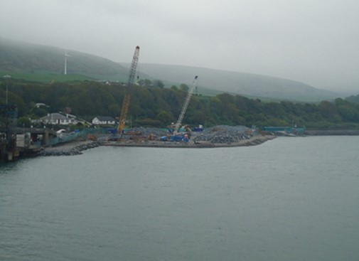 P&O Cairnryan Berth 1 linkspan replacement