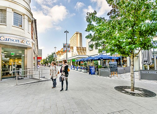 Public realm works completed in Woking