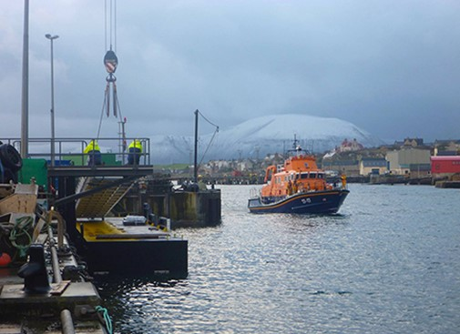 Stromness lifeboat mooring pontoon complete