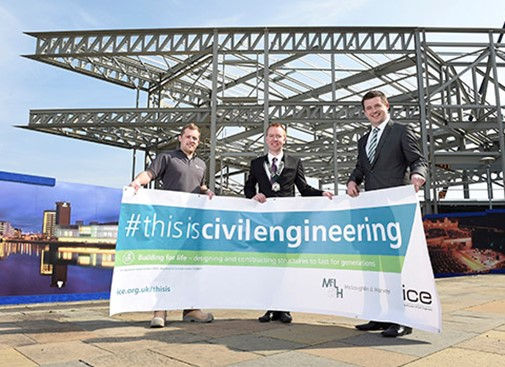 'This is Civil Engineering' launch at Waterfront Hall extension