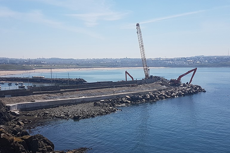 Revetment Repairs at Portrush Harbour North Pier