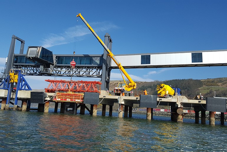 Loch Ryan Jetty Repairs